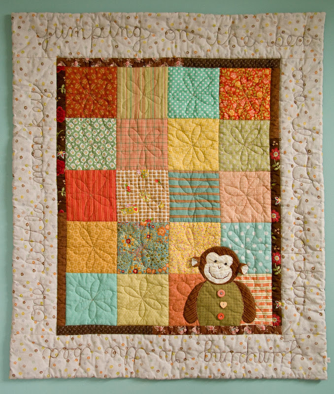 PatchworkPottery: One Little Monkey : monkey quilt pattern - Adamdwight.com