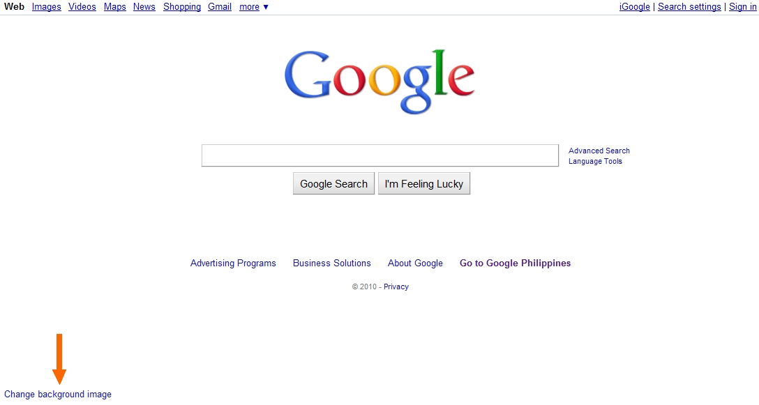 Change Google Homepage Background (How To)