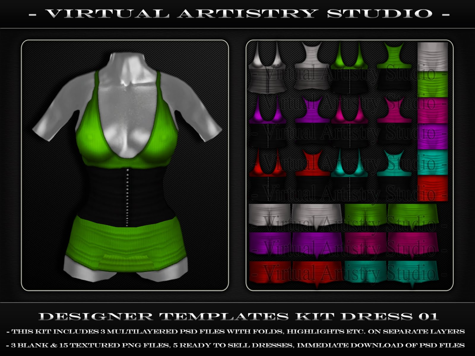 second life templates for gimp - virtual artistry studio