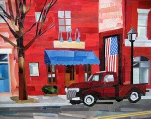Street in Old Town by collage artist Megan Coyle