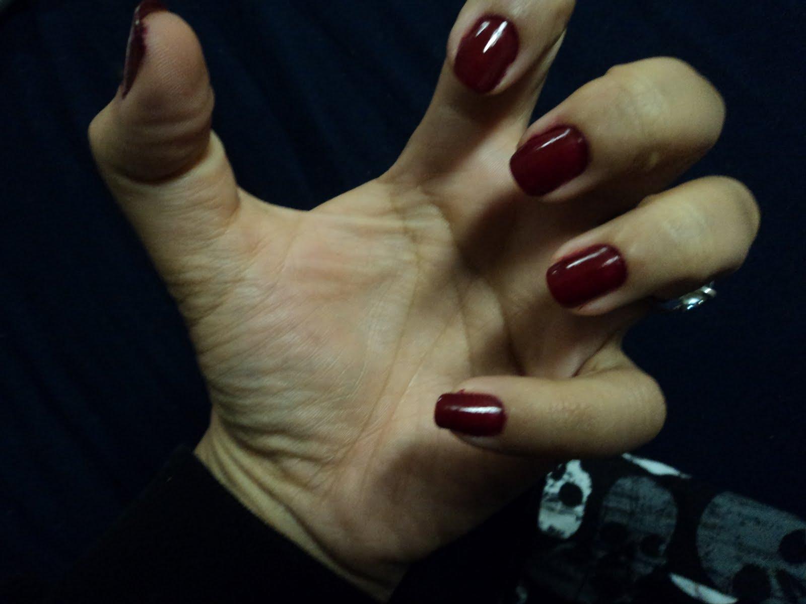 Nails, Tales, and Trivial Things :): Dark Red Nails!