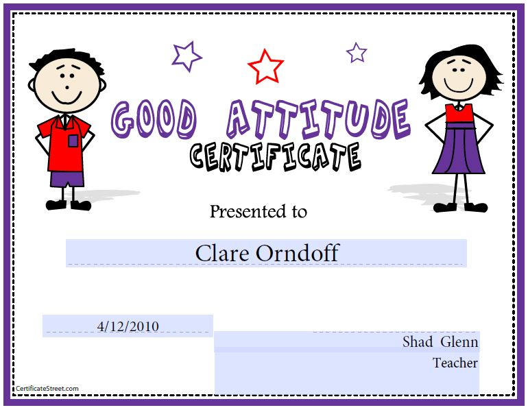 Sample Certificates For Kids Cinderella ChildrenS Certificates Free - free printable perfect attendance certificate