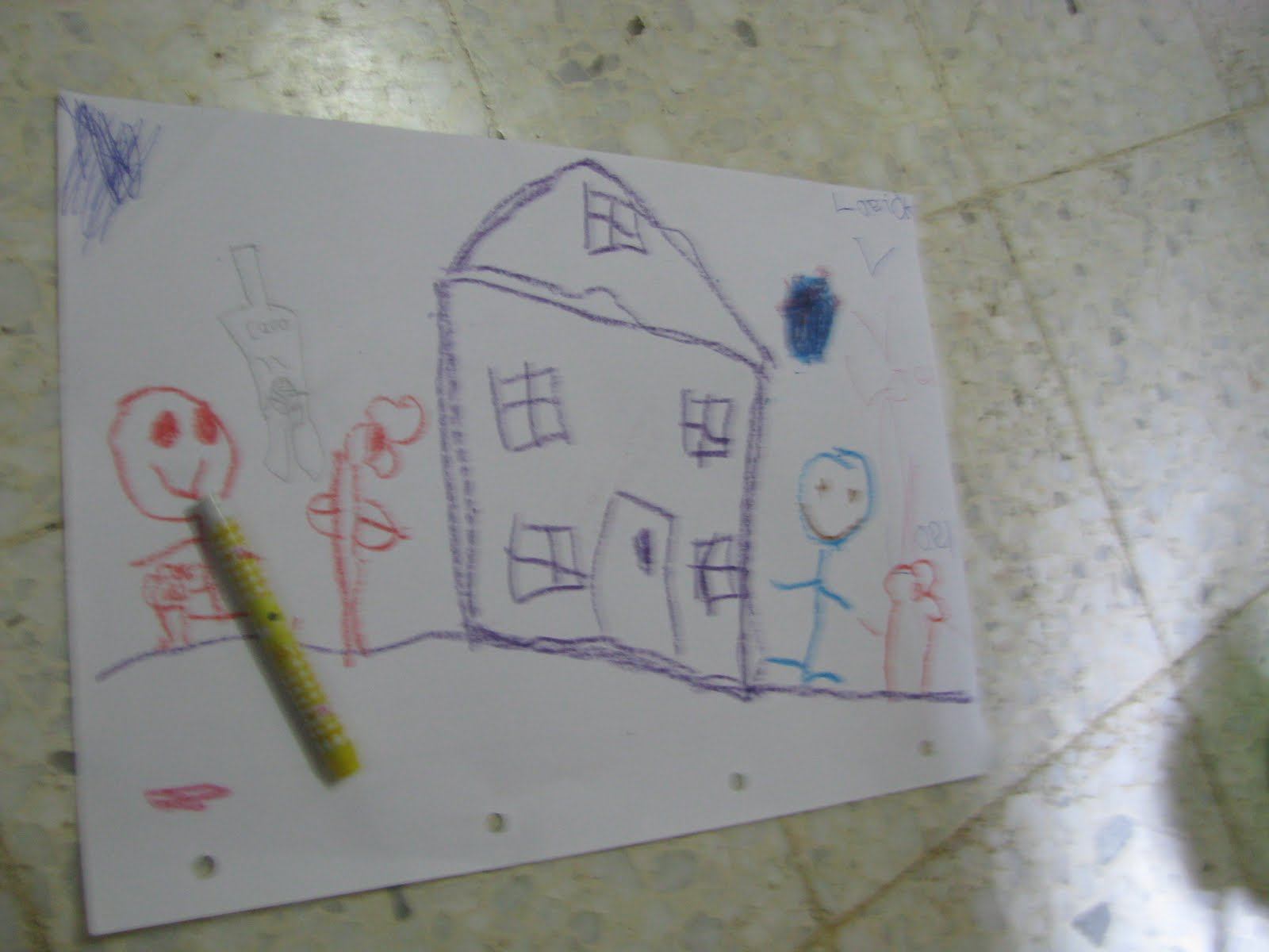 Th S Corner Drawing Of A 4 Year Old
