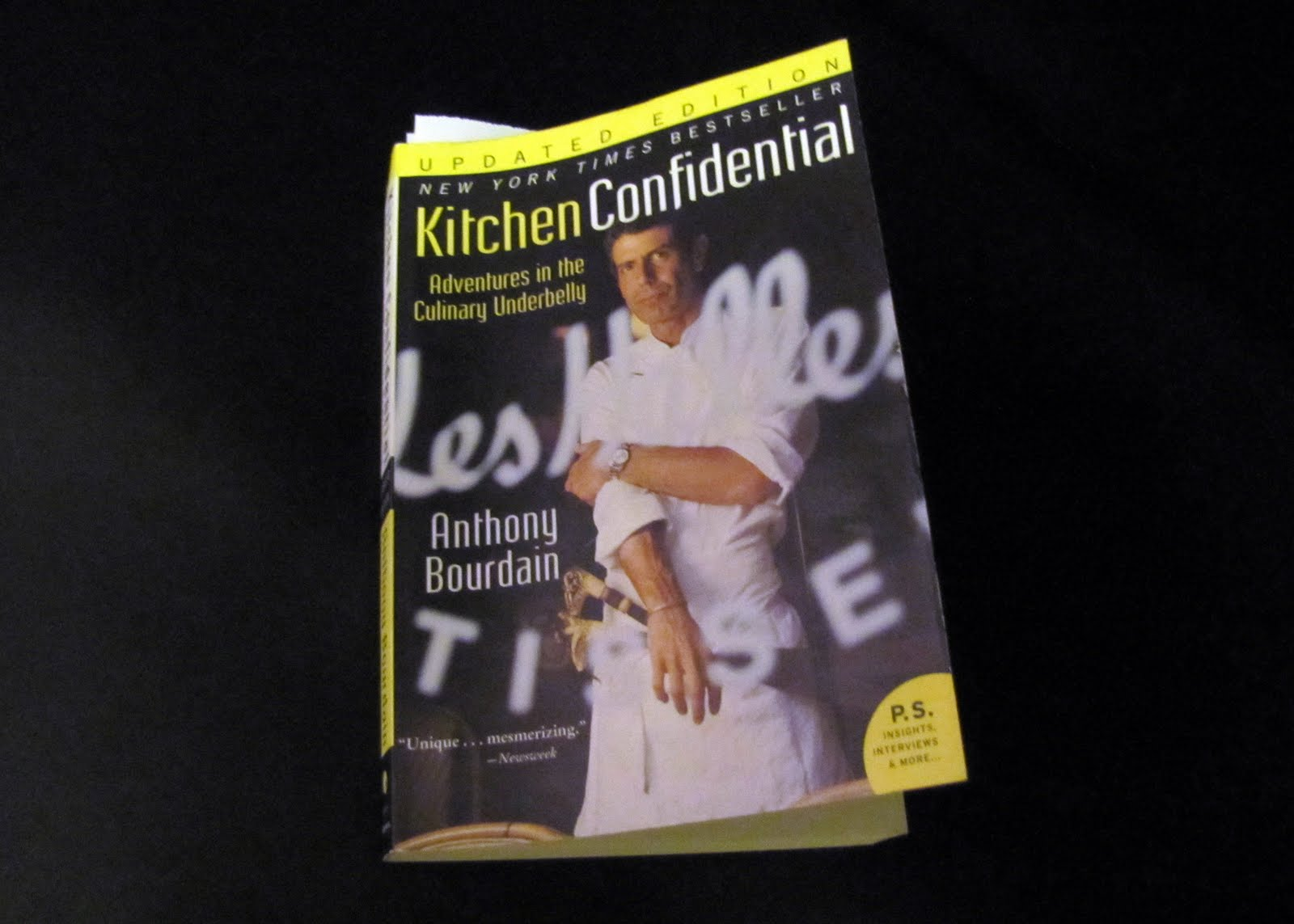 kitchen confidential book wooden sink smells like food in here bourdain 39s