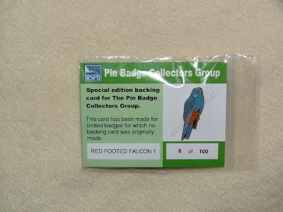 RSPB Badge Swan on British Wildlife Card