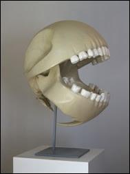 Pac-Man skull by Le Gentil Garcon