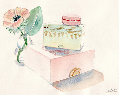 Peony with 2 Laduree Boxes - ParisBreakfasts