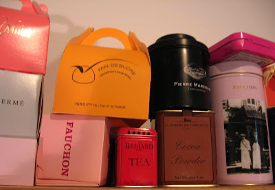 My shelf of beautiful boxes and tins...