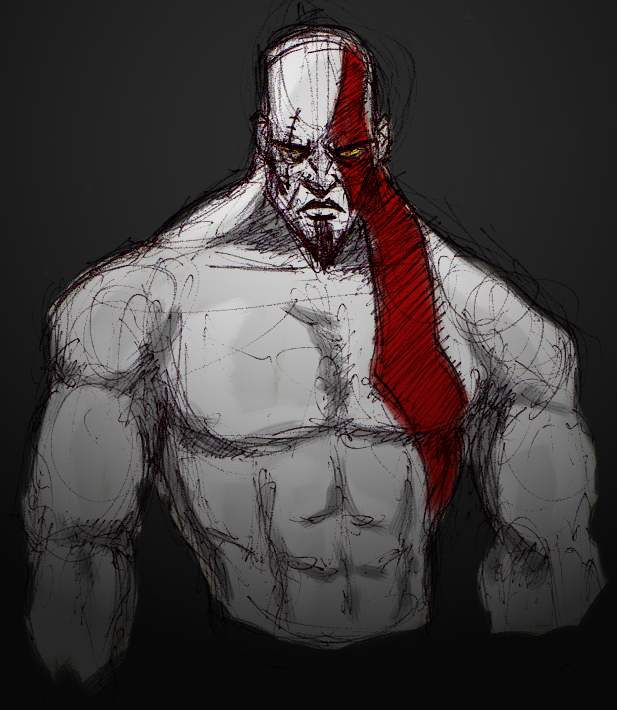 Comics Commentaries Kratos God Of War Iii Quick Paint