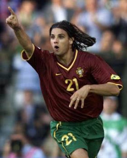 Nuno Gomes Famous Portugal National Soccer