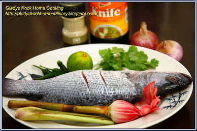 Nyonya Style Steamed Fish Ingredients and Spices Preparation