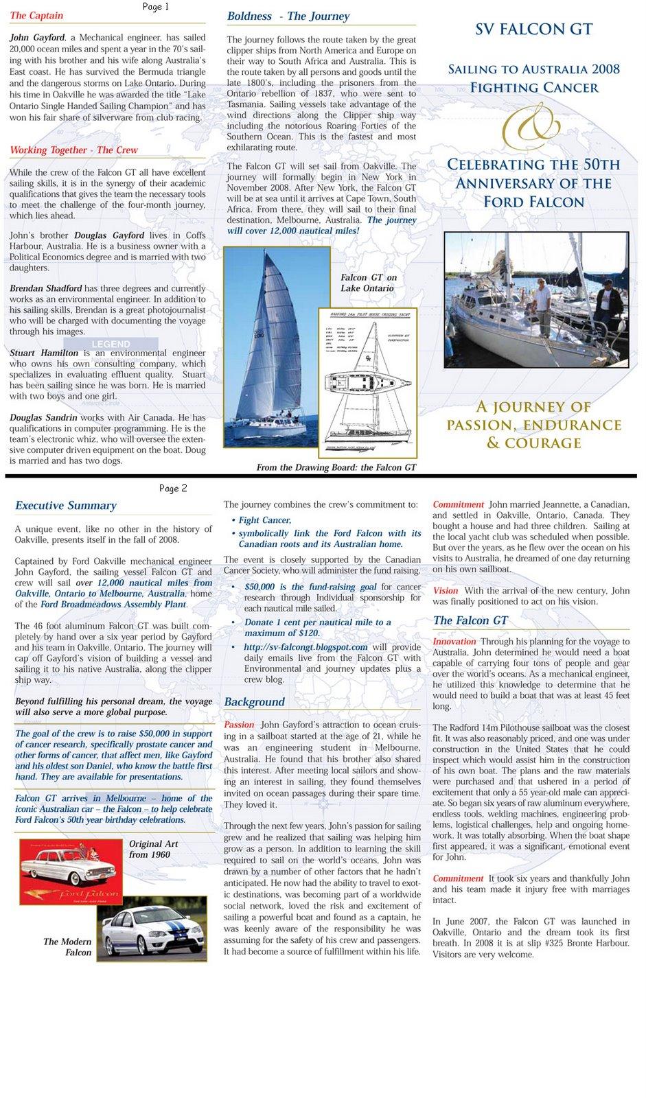 Falcon Voyage Brochure