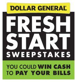 Dollar General Fresh Start Sweepstakes