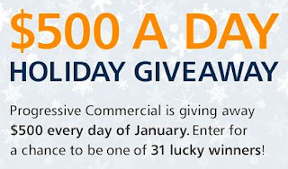Progressive Commercial's $500 A Day Holiday Giveaway