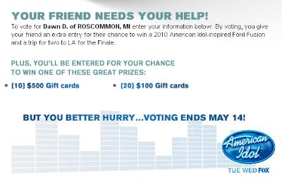 Vote for Dawn Dodge and Win Cash