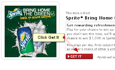 mycokerewards sweepstakes winners mycokerewards sprite bring home the green back to school 3269