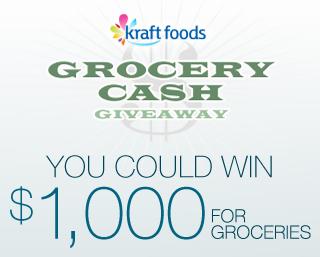 Kraft Grocery Cash Giveaway