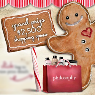 Philosophy Gingerbread Man Instant Win Game Sweepstakes