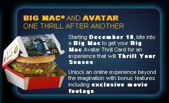 McDonald's Big Mac Avatar Twitter Sweepstakes