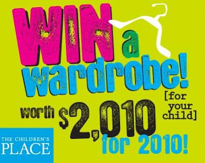 The Children's Place Win A Wardrobe Worth $2,010, for 2010