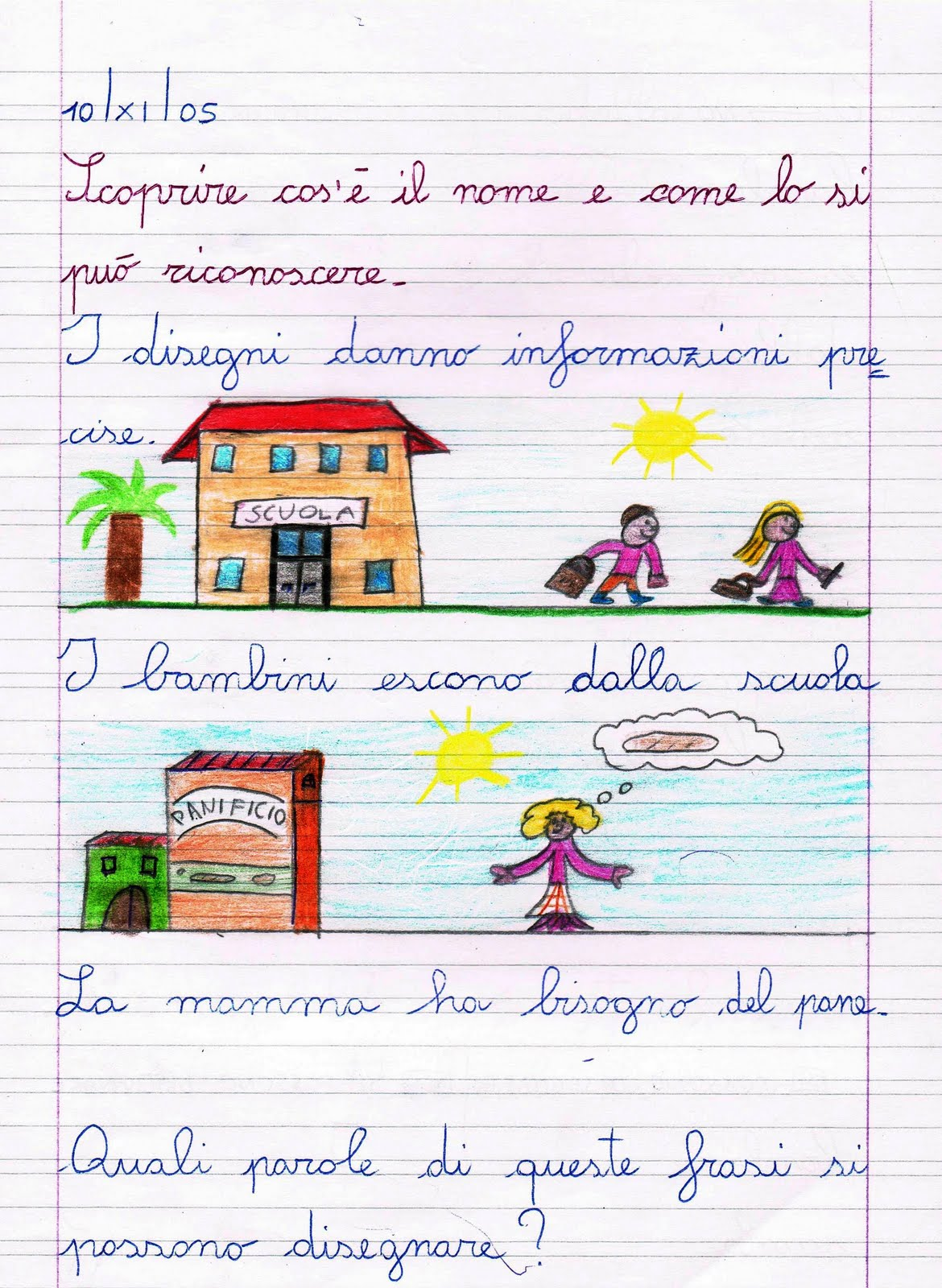 Grammatica italiana i nomi spiegazioni ed esercizi per for Maschile e femminile esercizi
