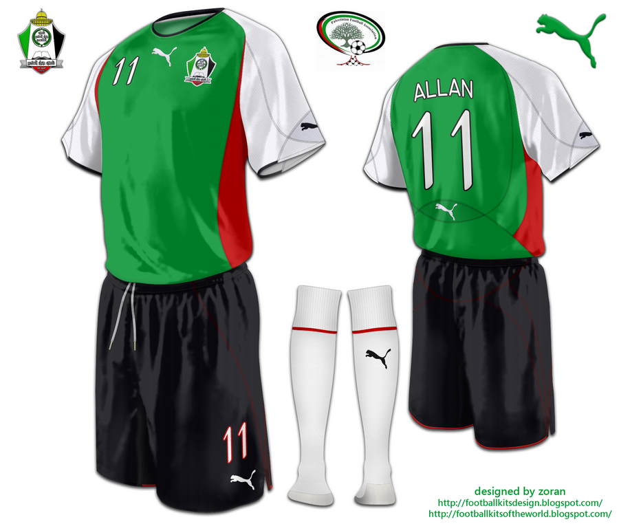 faa25f240 The home kit is green-red and white shirt with black trims