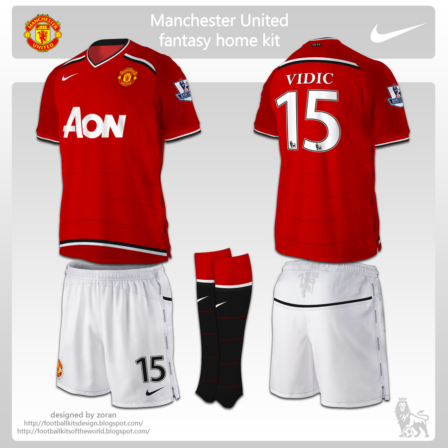 f5f4f5054 football kits design  Manchester United fantasy kits