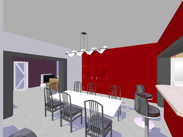 Papier peint gris et rouge - Salon mur rouge et gris ...