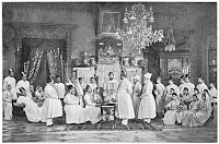 Parsi wedding late 19th/early 20th century, notice the organ on the far right.
