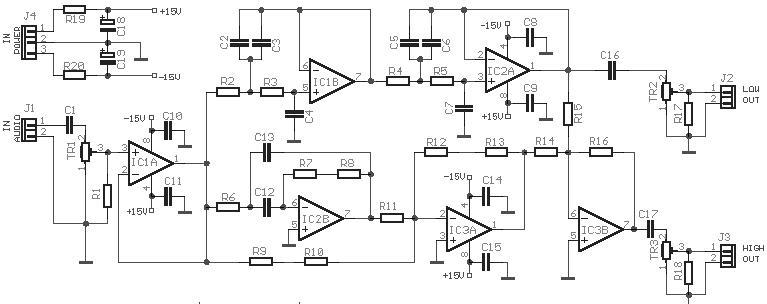 Simple Schematics 2 Way Active Crossover Se Sae