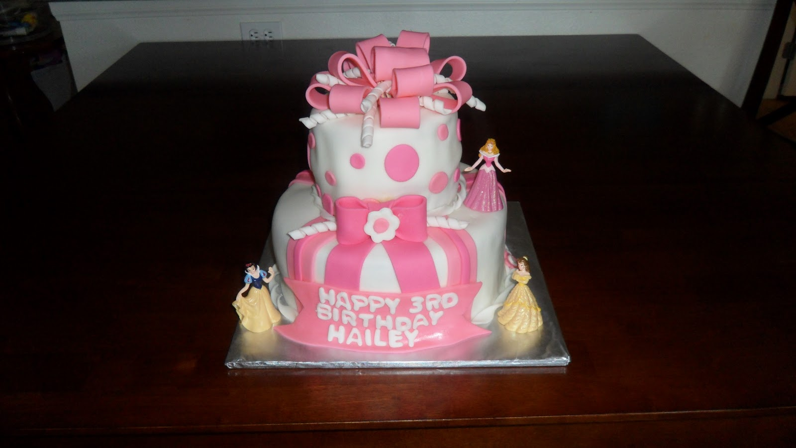 Three Sweet Cakes Princess Birthday Cake