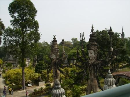 เทวาลัย ภาพถ่ายมุมมอง จากอาคารศาลาแก้วกู่