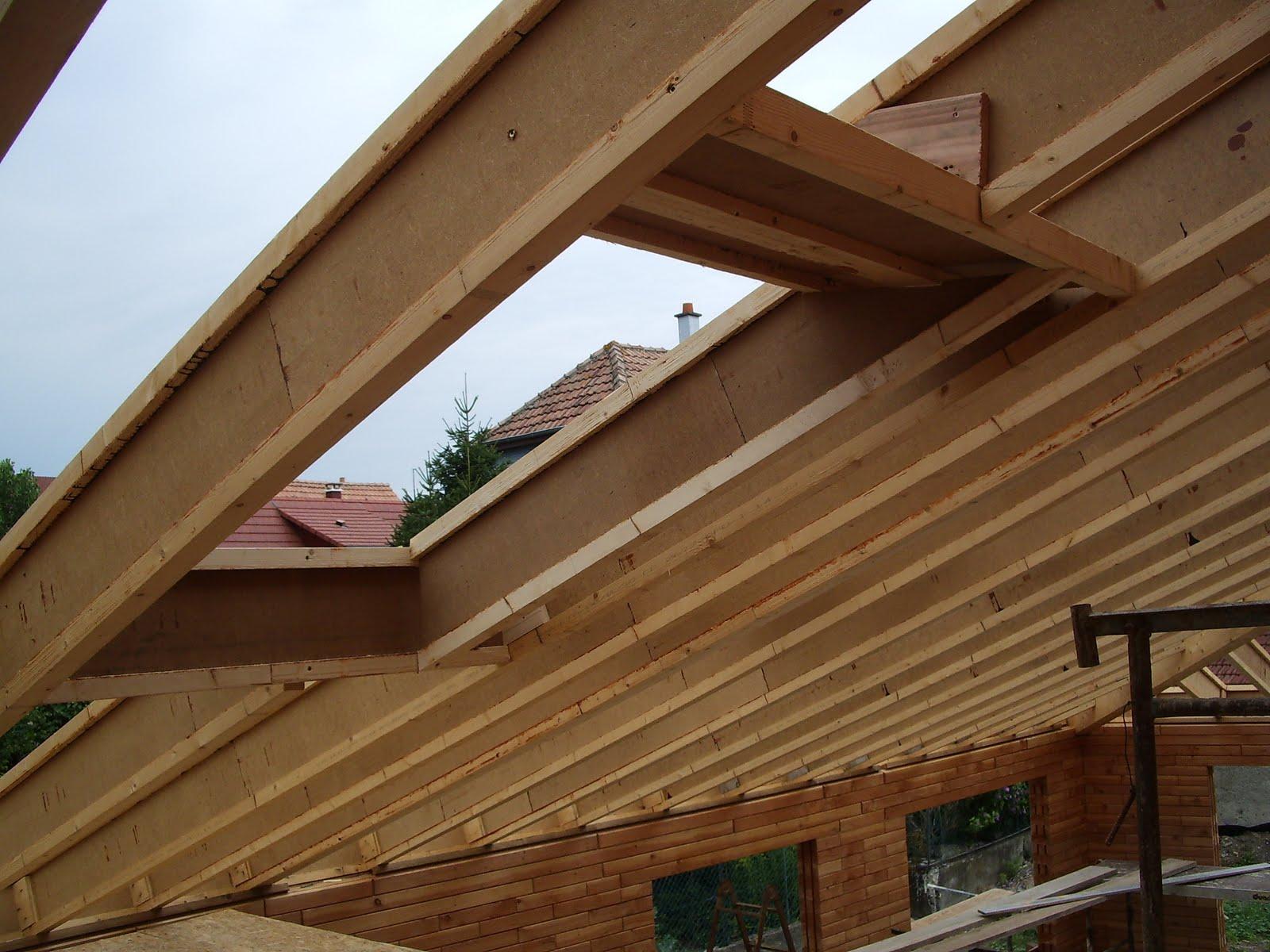 ma maison en parpaings de bois bvb  le chevronnage