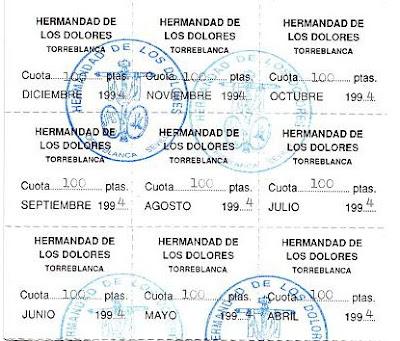 HERMANDAD DE LOS DOLORES - Página 9 Cuotas