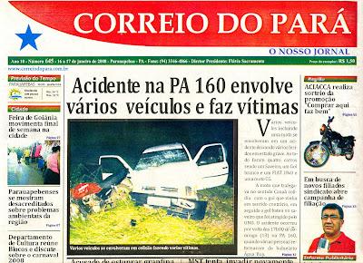 Resultado de imagem para jornal correio do pará em parauapebas