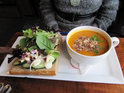 Burgoo Soup and Sandwich Combination: Butternut Squash Soup and the Tasty Chicken Sandwich
