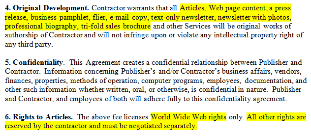 Simple Freelance Writing Contract