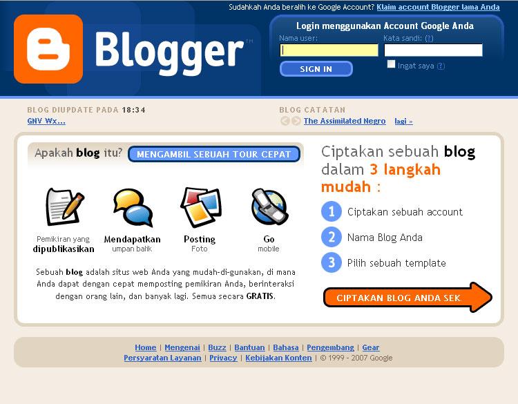 mengetahui aturan space pada situs blogger