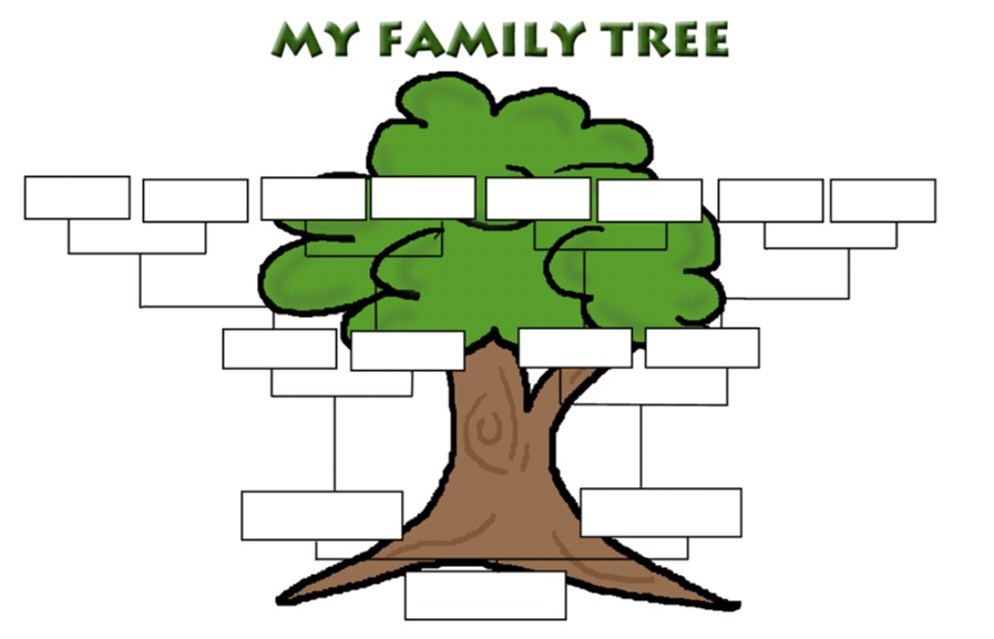 My family tree andrea laura y yudy for Blank family tree template for kids