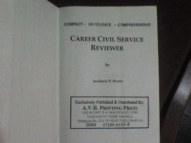 Civil Service Reviewer Book