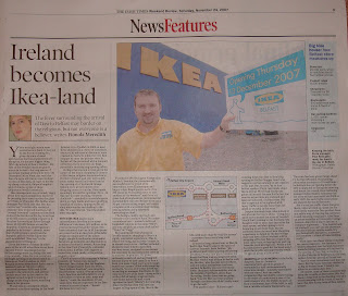 Ikea Belfast article in Irish Times weekend section