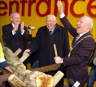 Image from opening of Ikea Belfast, (c) BBC