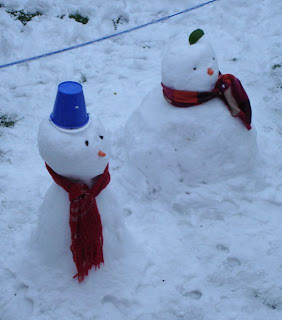 Snowmen in the back garden