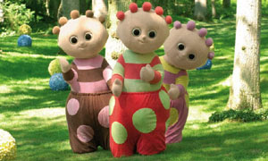 Ooo, Unn and Eee - Tombliboos from In the Night Garden, BBC CBeebies