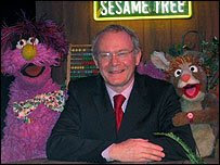 Martin McGuinness enjoying the company of some Muppets - Northern Ireland's Sesame Tree