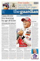 Image of Guardian newspaper front cover - 50,000th edition