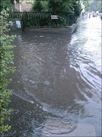 Ravenhill Road flooded, via BBC