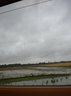 Sodden fields south of York