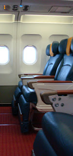 Luxury 2 by 2 seats on bmi's old Heathrow-Moscow flight