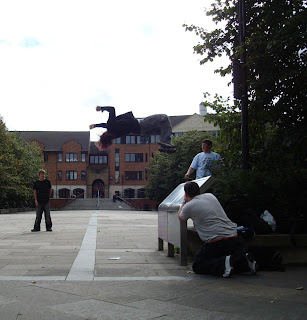 Parkour in Belfast Writer's Square
